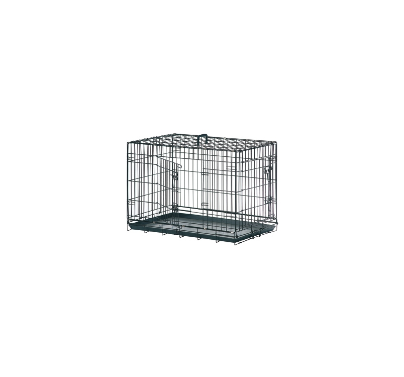 Wire Dog Cage Black 63x43x49cm S