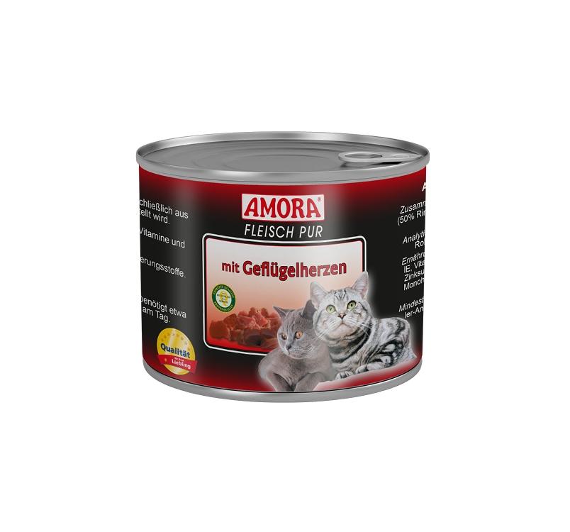 Amora Консервы для кошек - птичье сердце 200г