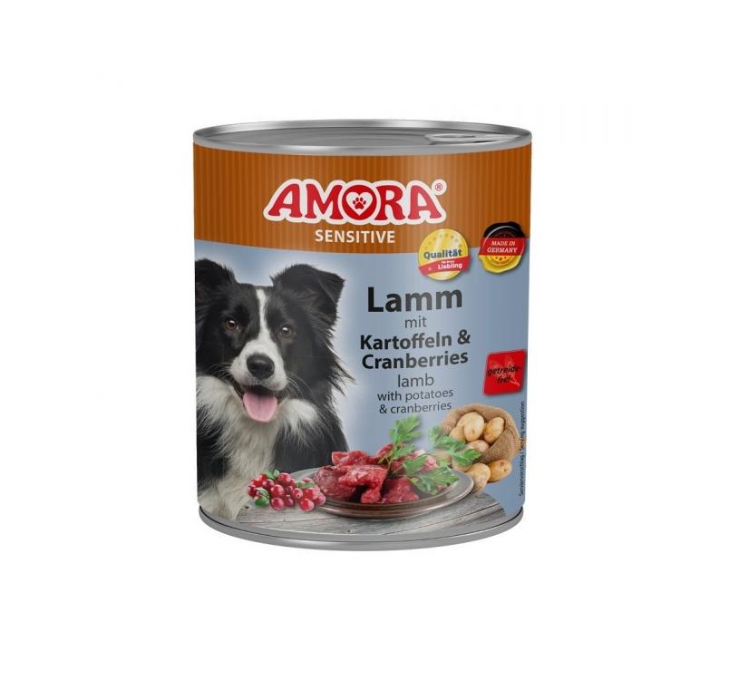 Amora Sensitive Canned Dog Food (Lamb & Potato) 800g
