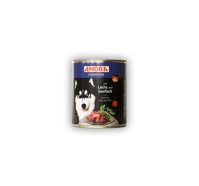 Amora Canned Dog Food (Salmon and Seafish) 800g