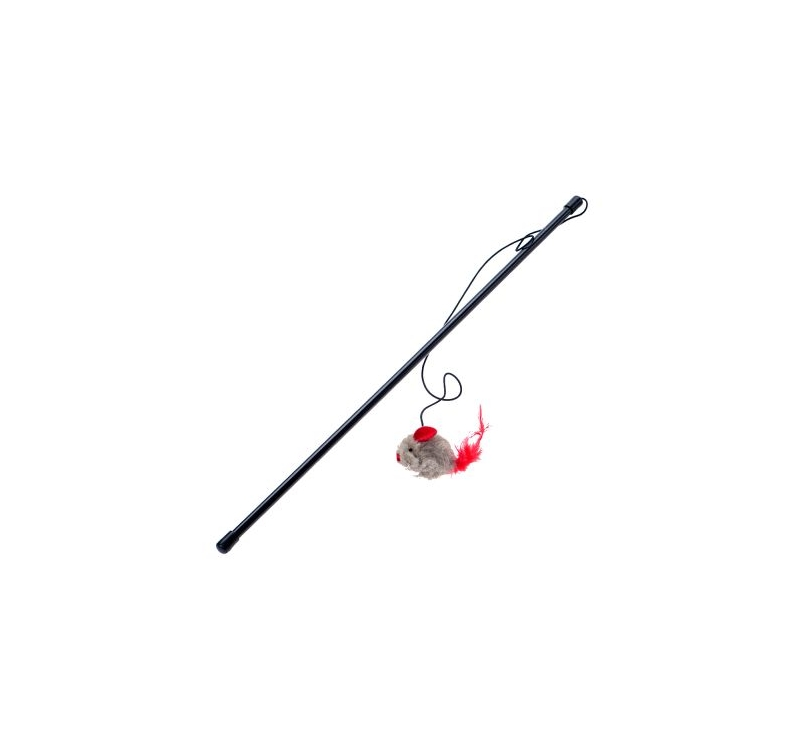 Cat Toy Mouse on a Rod 50cm