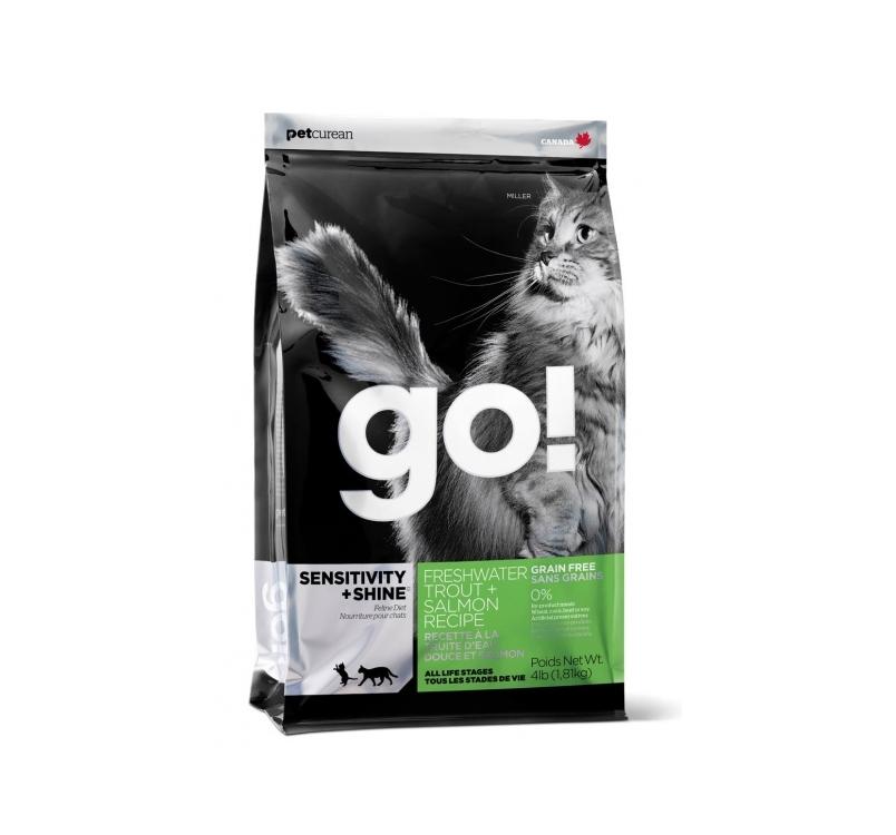 GO! беззерновой для котят и кошек с чувствительным пищеварением с форелью и лососем 1,81кг