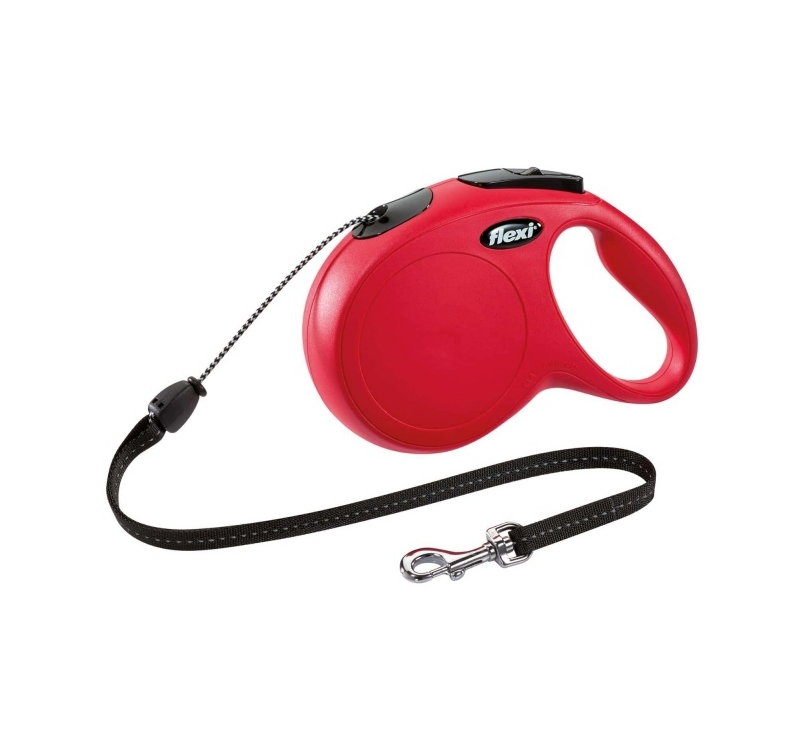 Flexi New Classic M Red Cord 8m 20kg