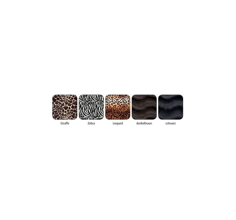 Лежак кожа + ткань 106x86см