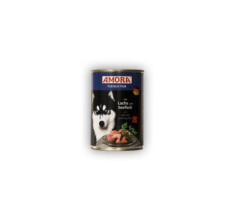 Amora Canned Dog Food (Salmon & Seafish) 400g