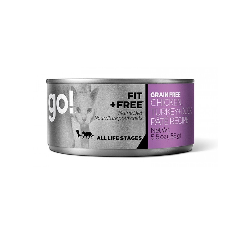 Go! Grain Free Chicken, Turkey & Duck Pate 156g