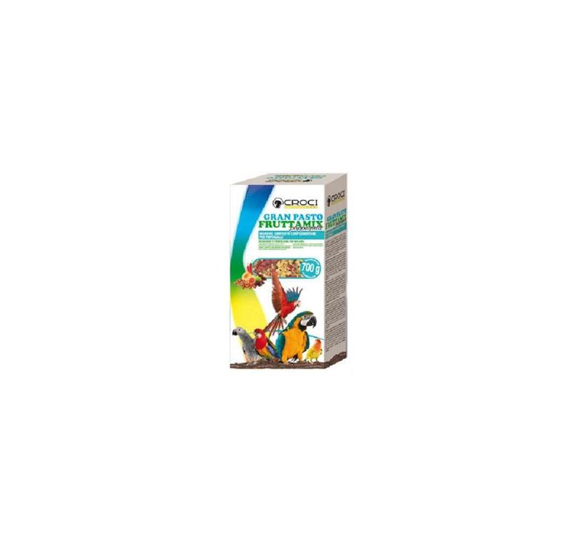 Gran Pasto Puuviljasegu Suurtele Papagoidele 700g