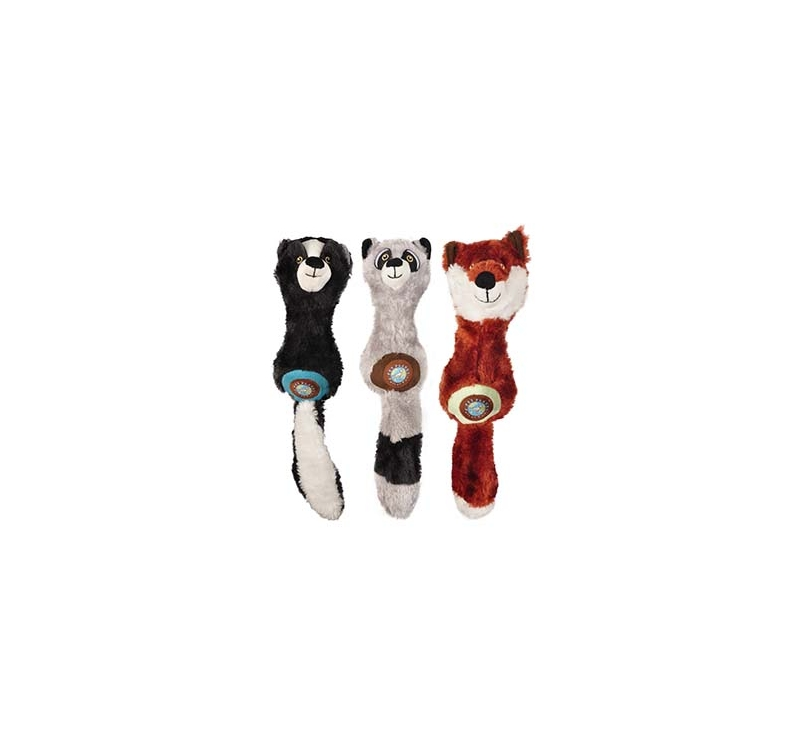 Plush Animal with Rubber Dumbell 30cm
