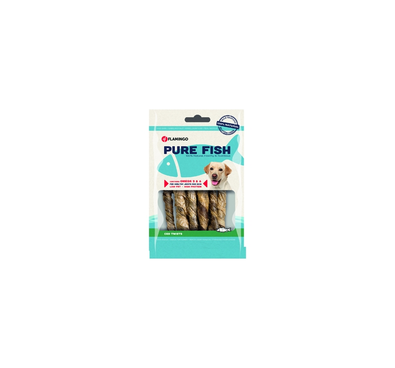 Natural Cod Skin Twists 85g