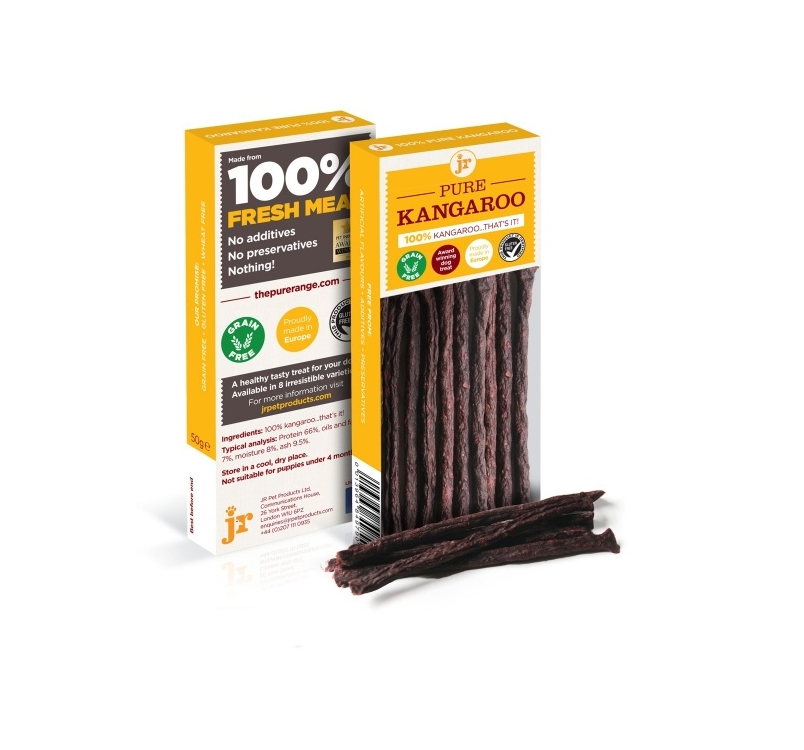100% JR Pure Kangaroo Treats 50g