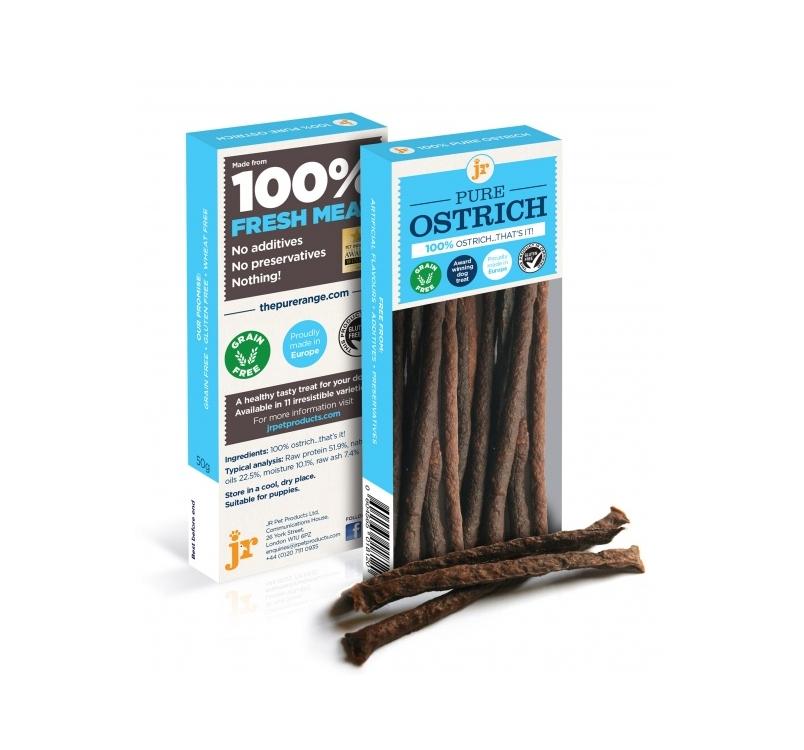 100% JR Pure Ostrich Treats 50g