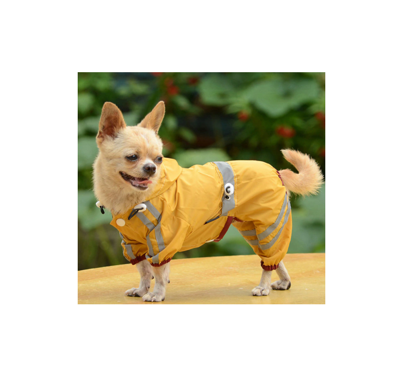 Raincoat for Dogs Yellow 36cm/XL