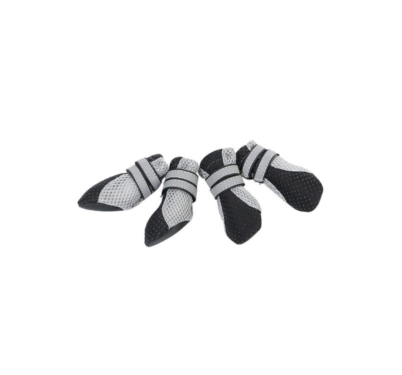 Small Dog Booties Black M