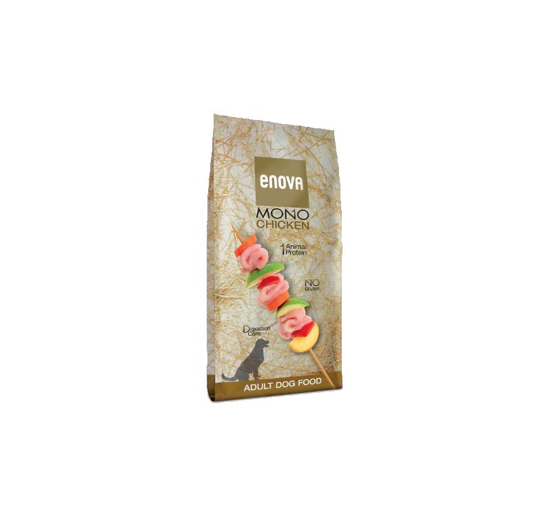 ENOVA Mono Chicken Täissööt Täiskasvanud Koerale 12kg