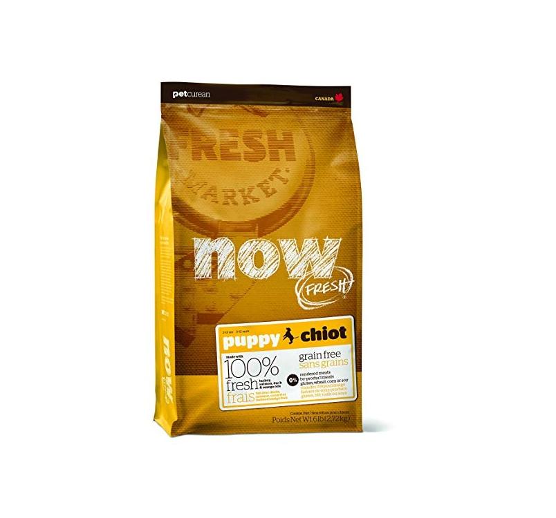 NOW FRESH беззерновой Корм для щенков, с индейкой, уткой и овощами 11,3кг
