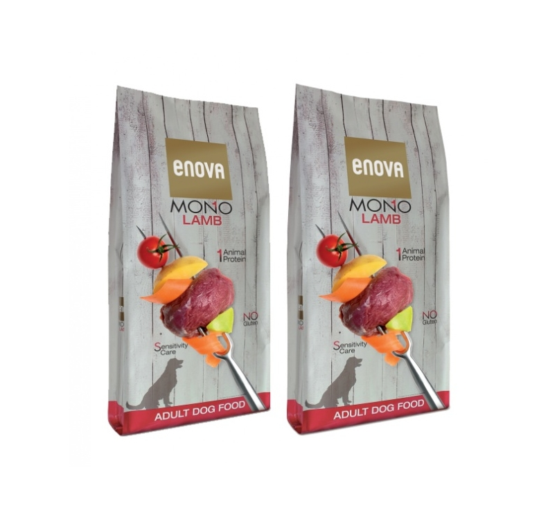 2x Enova Mono Lamb Complete Food for Adult Dogs