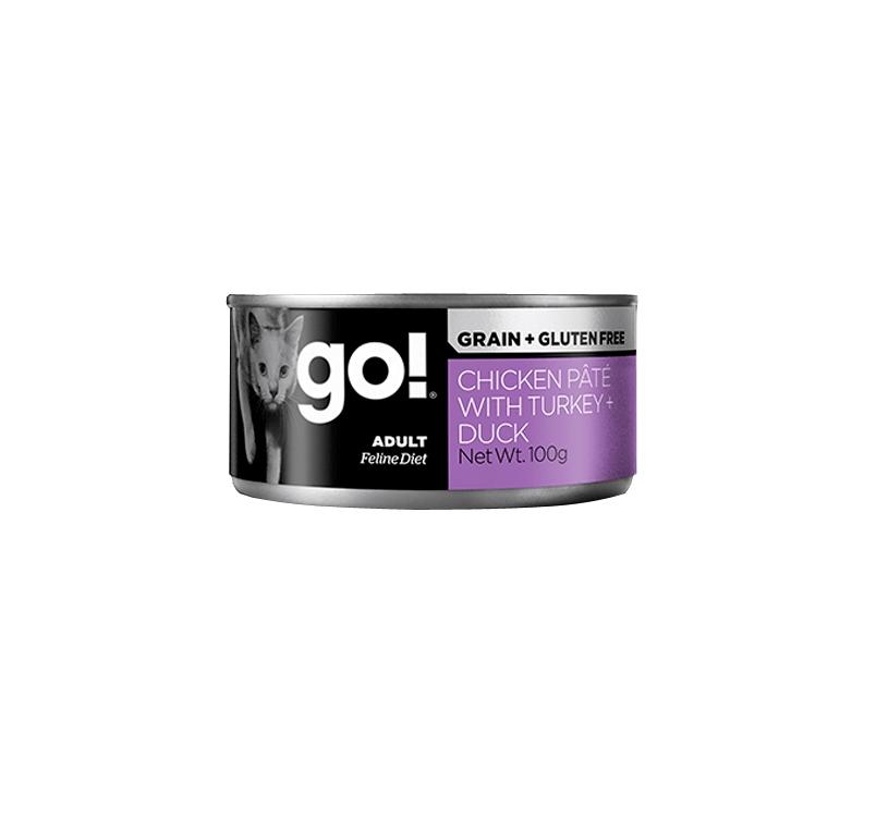 Go! Grain Free Chicken, Turkey & Duck Pate 100g