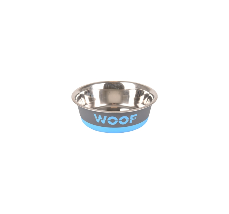 "Kauss ""Woof"" Hall/Sinine 900ml 17,3cm"