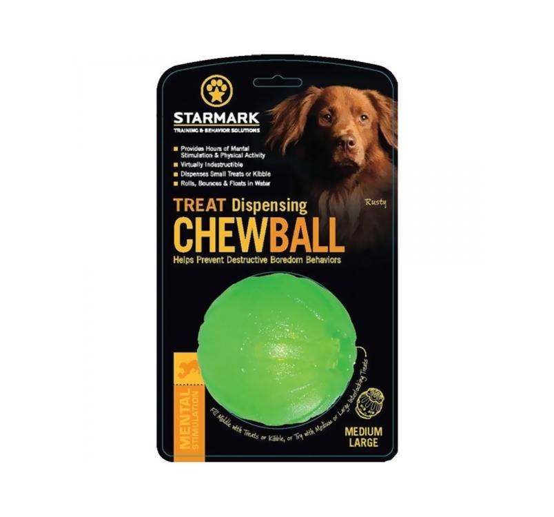 Starmark Treat Dispensing Chewball 90mm