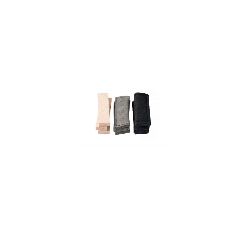 Klin Tracking Items (Leather, Cloth, Wood) 3pcs