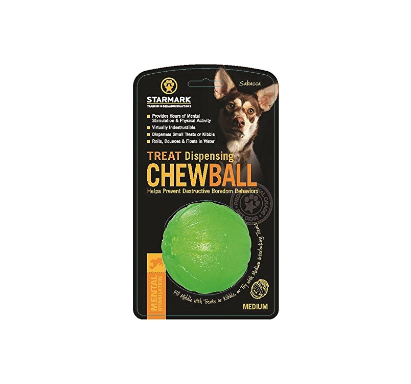 Starmark Treat Dispensing Chewball 70mm