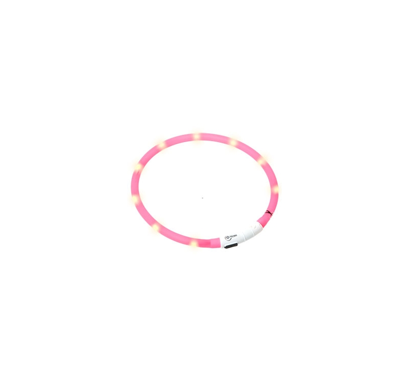 LED Collar Visio Light Pink 20-75cm