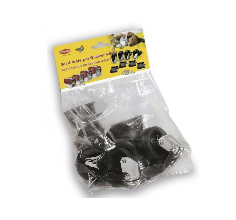 Set of 4 Castors for Gulliver IATA 4/5/6/7 4pcs
