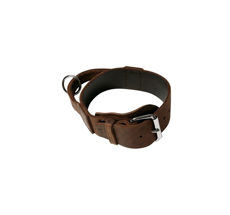 Klin Soft Leather Collar with Handle 50mmx80cm