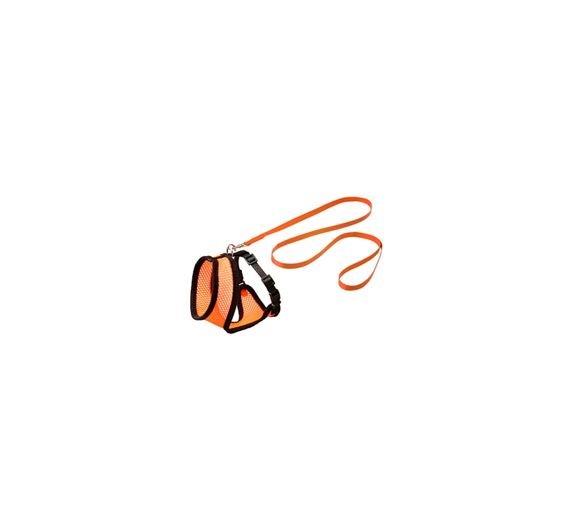 Cat Harness with Leash M 36-48cm Orange