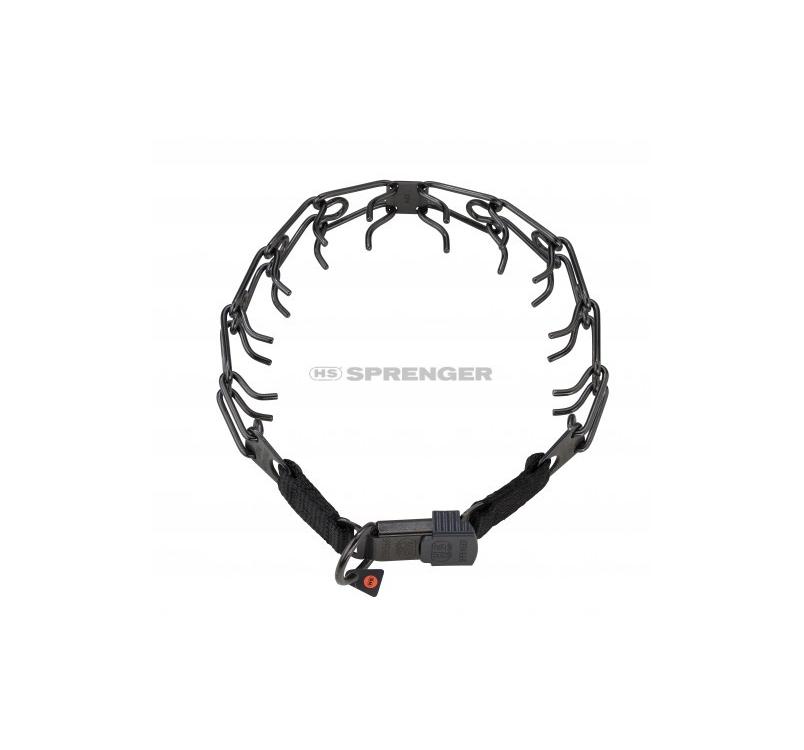 Sprenger Stainless Steel Black Training Collar with Cliclock 3,2mm x 52cm