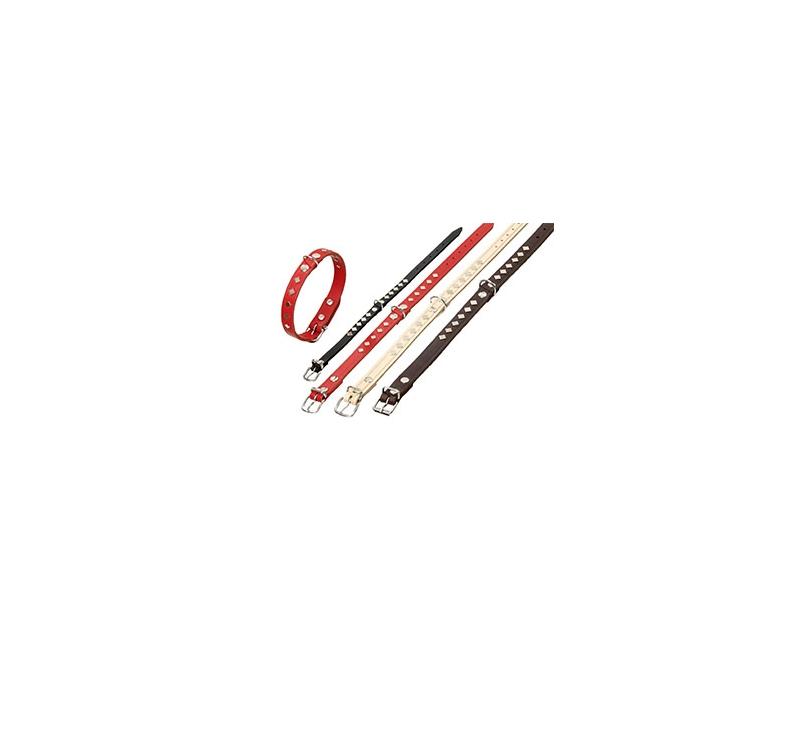 Kaelarihm Neetidega Punane 62cm x 25mm
