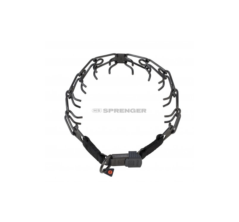 Sprenger Stainless Steel Black Training Collar with Cliclock 2,25mm x 40cm