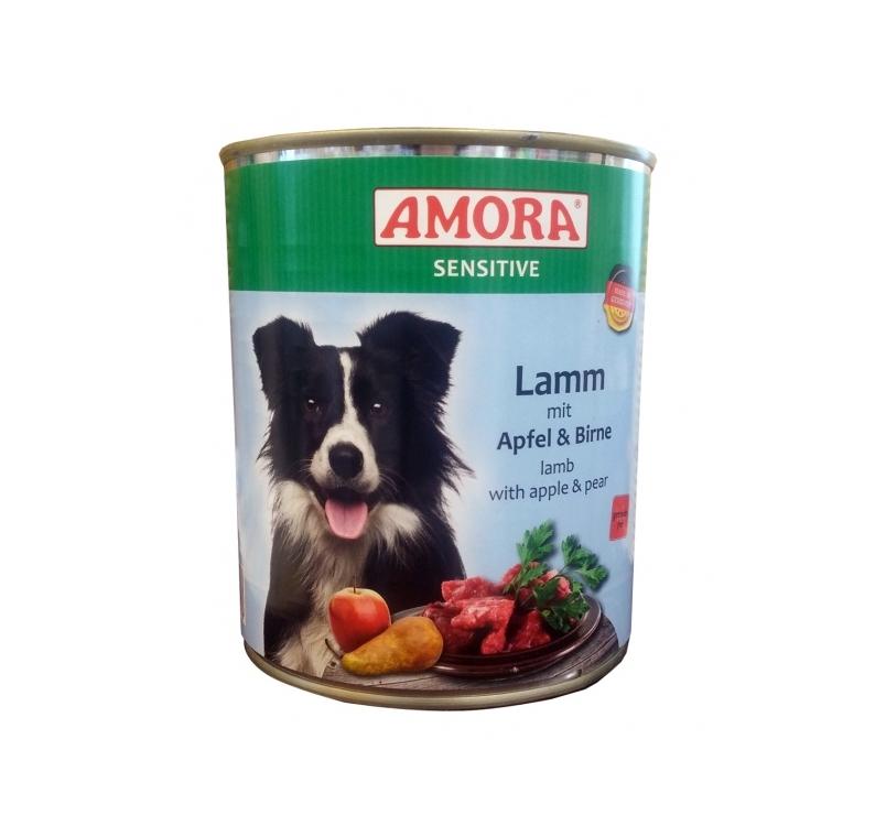 Amora Canned Dog Food Sensitive (Lamb, Apple, Pear) 800g