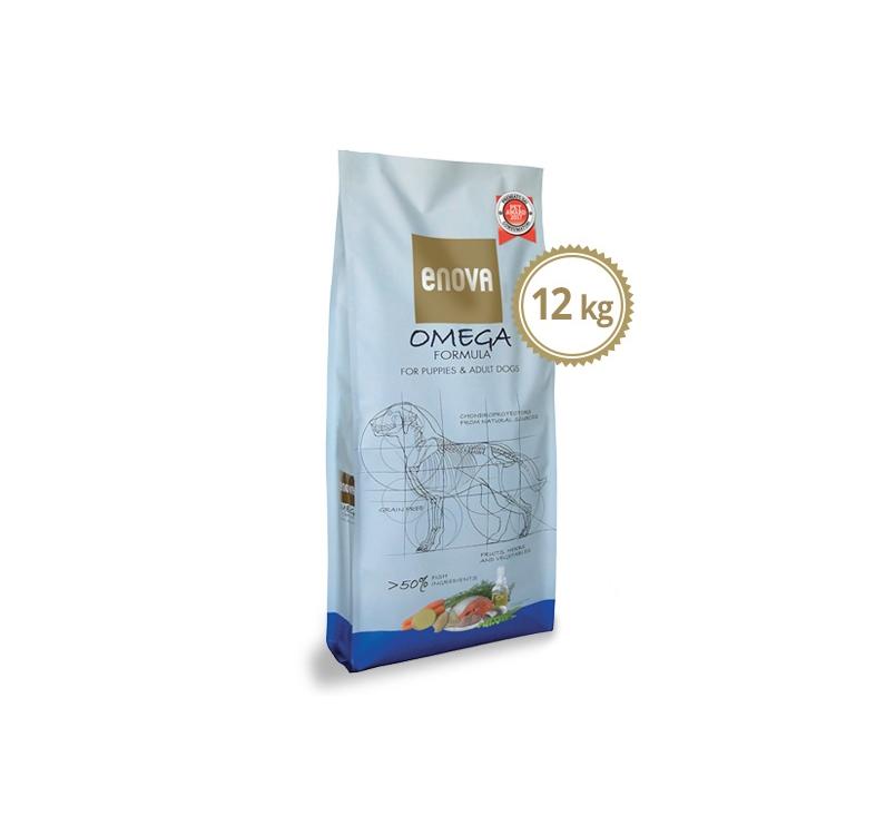 ENOVA Omega Formula Teraviljavaba Täissööt Koerale 12kg