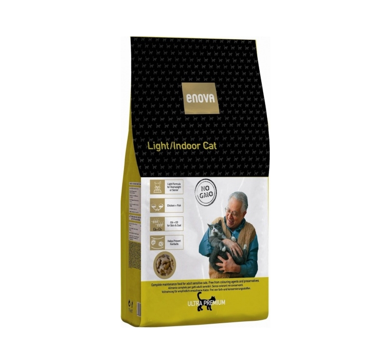 Enova Light/Indoor Kassi Täissööt 1,5kg