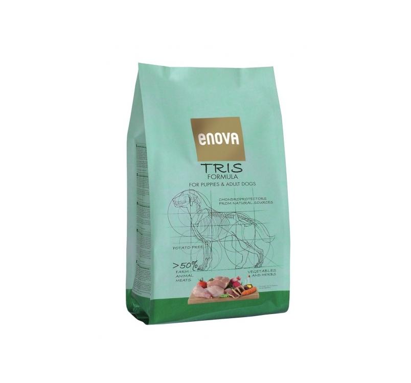 ENOVA Tris Formula Teraviljavaba Täissööt Koerale 2kg