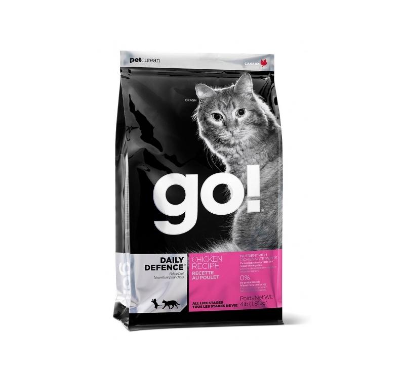 GO! Daily Defence Täissööt Kassile Kanalihaga 1,81kg
