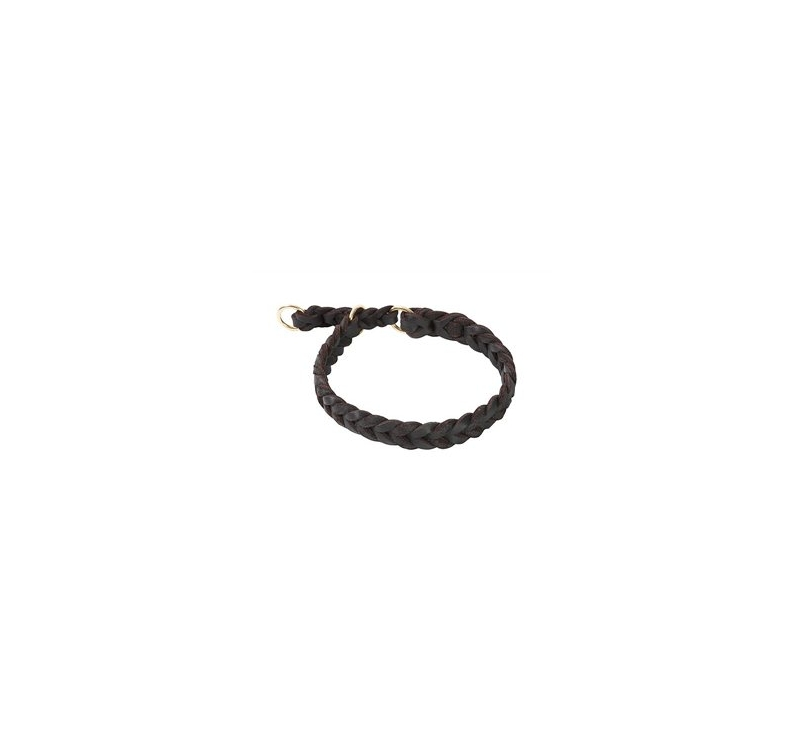 Klin Braided Leather Collar 40-45cm
