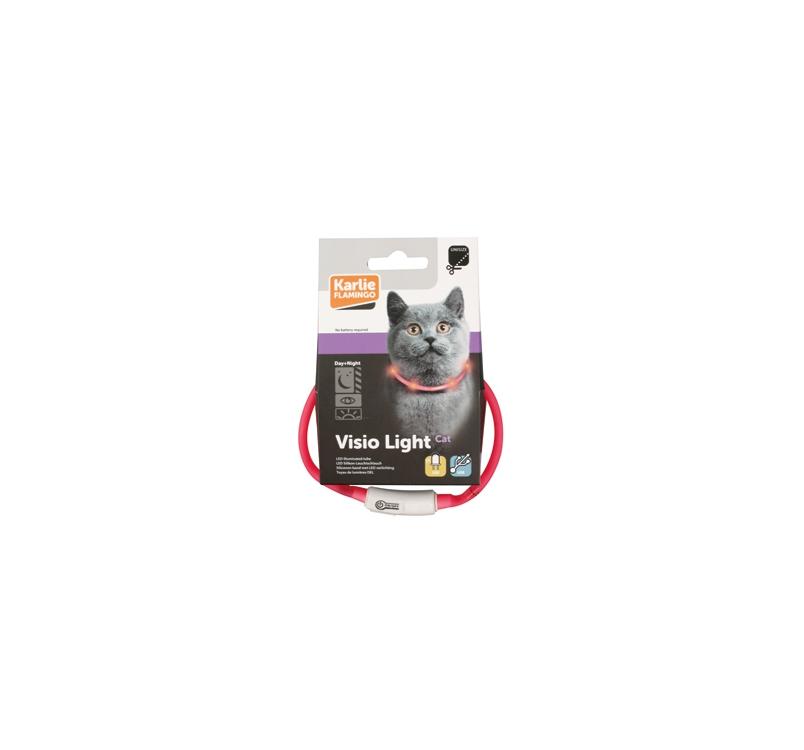 LED Kaelarihm Visio Light Roosa 20-35cm