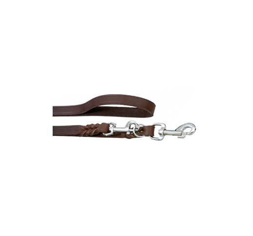 Adjustable Training Leash Rondo Brown 200cmx18mm M