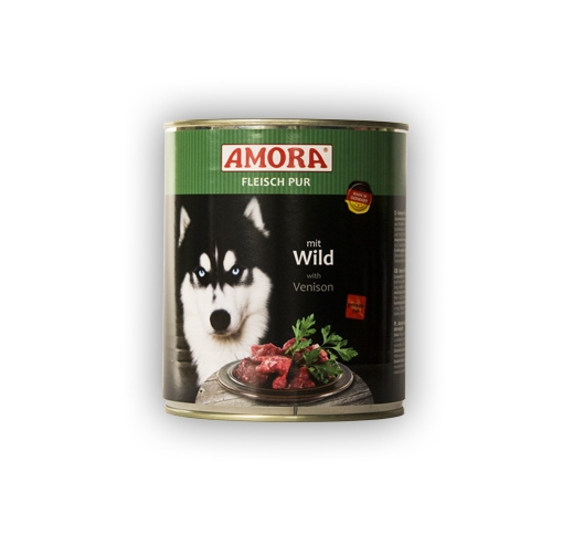 Amora Canned Dog Food (Venison) 800g