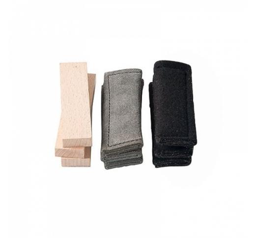 ABC Klin Tracking Items (Leather, Cloth, Wood) 3pcs