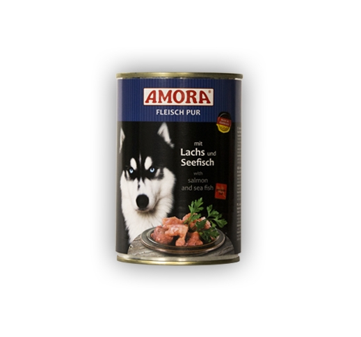 Amora Canned Dog Food (Salmon & Seafish) 400g