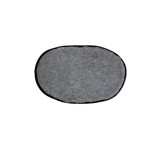 Softbed Oval Antislip Grey 108x67cm