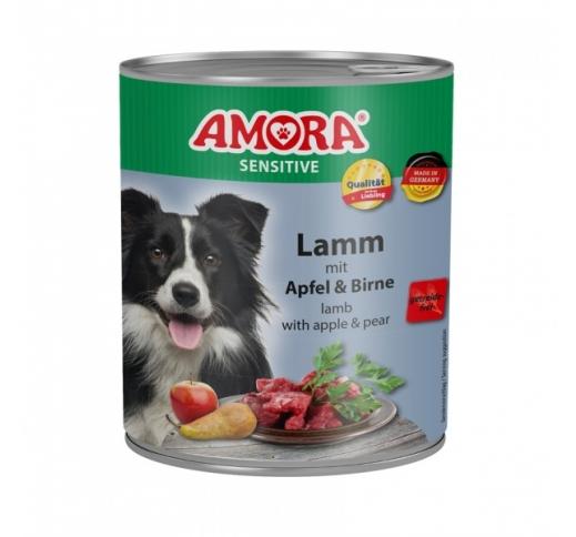 Amora Sensitive консервы для собак - баранина, яблоко и груша 800г