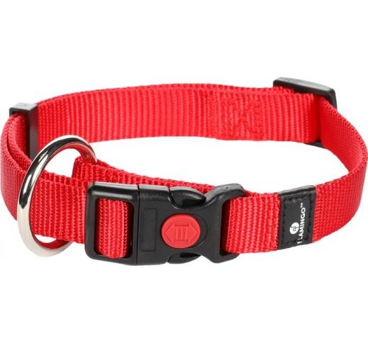 Ошейник для собаки, красный 15мм x 30-45см