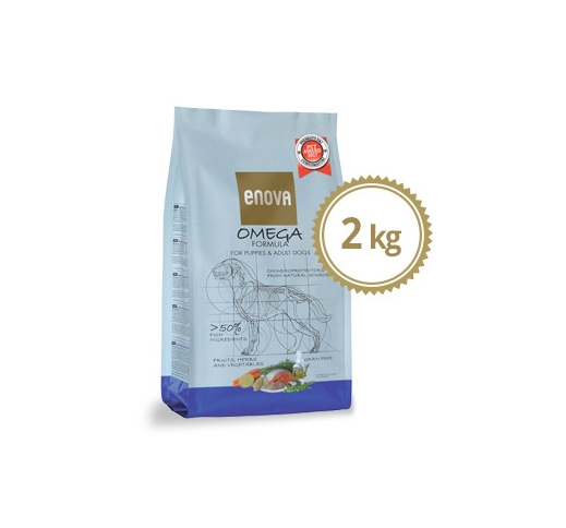 ENOVA Omega Grain Free Dog Food with Salmon & Herring 2kg
