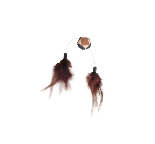 Cat Toy Aztec Feather Cake 4cm
