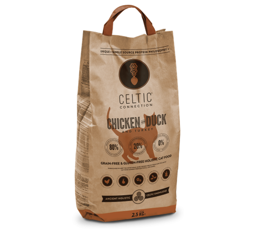 Celtic Connection Chicken & Duck for Cats 400g