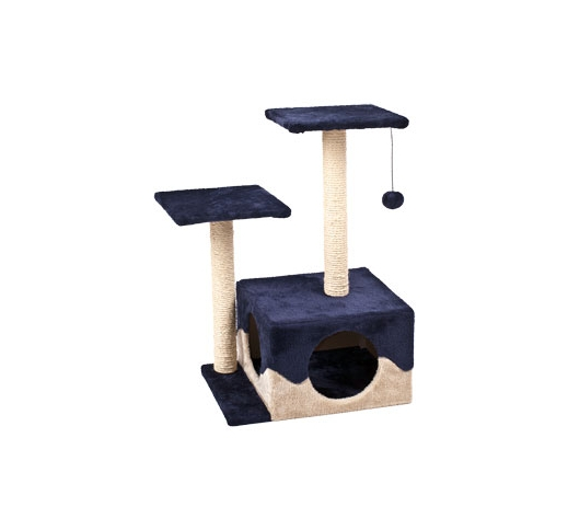 Cat Scratching Pole Kangri Blue/Beige 44x33x70cm